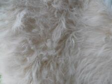 """Light Beige To a White Tip Faux Fur Teddy Bear Making 3""""Pile By The Yard 36""""x60"""""""