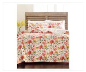 Martha Stewart Collection Sunset Floral Multi Combo Twin Xl Quilt Peach Beige