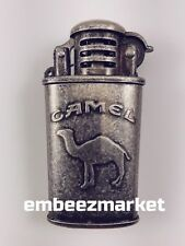 Vintage CAMEL Trench Lighter Antiqued Metal Tabletop Lighters RARE New In Box!