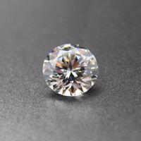 White Zircon 1.42ct 6mm Round Faceted Cut Shape AAAAA VVS Loose Gemstone