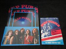 Deep Purple 1975 Japan Tour Book w Promo Flyer Tommy Bolin Whitesnake John Lord