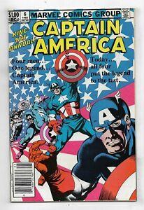Captain America 1982 Annual #6 Very Fine