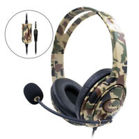 3.5mm Gaming Headset Wired Headphones Stereo W/ Mic Fit For PS4 Camouflage