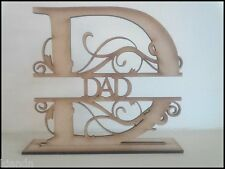 """Free standing """"DAD"""" MDF blank craft Plaque/sign"""