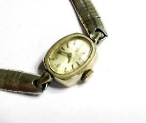 RUNS-STUNS - OMEGA 17J - CAL 484 - 14K GOLD FILLED LADIES WRIST WATCH (A9)