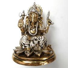 Brass Lord Ganesha Elephant Head God Success Hindu Amulet Wealth Talismans Lucky