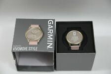 Garmin Vivomode Style Light Gold Aluminum Case with Blush Pink Woven Nylon Band