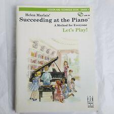 Helen Marlais' Piano Lesson and Technique Book and CD Grade 1 Succeeding