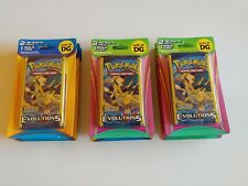 POKEMON X&Y EVOLUTIONS DG Blisters w/ TWO 3-Card Packs + Bonus Card