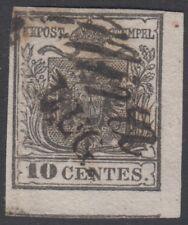 """Lombardo Veneto - 1850 c.10 nero annullato """"MIRA"""" corsivo ben marginato -lotto 4"""