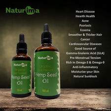 Naturima 100% Cold Pressed Hemp Seed Oil Unrefined Organic 30ml - 200ml