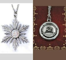 Lot of 2 Once Upon a Time necklace Sale Frozen Snowflake Emma Swan Halloween