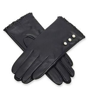Handbag Bliss Super Soft Leather Ladies Womens Gloves with Pearl Buttons