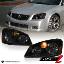"""SINISTER BLACK"" For 2005 2006 Nissan Altima Sedan Headlights Assembly HID Xenon"