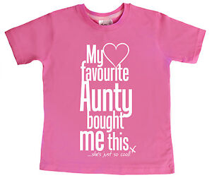 """Dirty Fingers T-Shirt """"My Favourite Aunty Bought this"""" Cool Aunt Auntie Niece"""