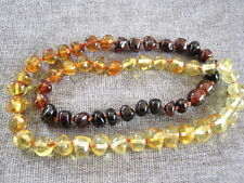 Natural Baltic Amber Rounded Shapes Three Colours Women's Uni Necklace 45cm FPH