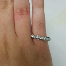 *Sterling Silver Eternity Cubic Zirconia Ring Size 5.75*