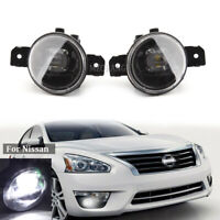 LED Front Bumper Fog Light Lamp For Nissan Altima Maxima Pathfinder Rogue Sentra