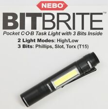 6706 NEBO - BLACK Bitbrite COB Task Light Tool Phillips Flat Torx T15 FLASHLIGHT