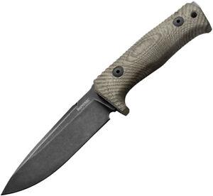 LionSTEEL T5 Green Micarta Fixed Black Blade Knife t5bcvg