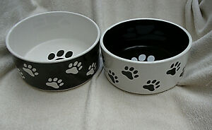 "Two Super Ceramic Dog Bowls, My Pets. 7"" Diameter"