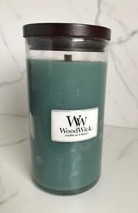 WoodWick Limited Edition Holiday Snowy Pine Pillar Jar Candle 18.6 oz New Rare