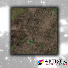 Vinyl 3x3' Decayed Earth Gaming Mat - Ideal for Warhammer