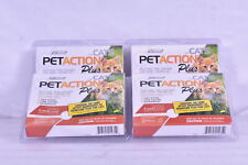 New listing Lot Of 4 Pet Action Plus Flea & Tick Treatment for Cats 1.5lbs or More 3 Count