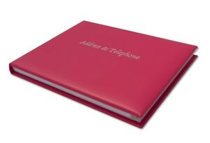 Deluxe Real Leather, Desk, Address & Telephone Book A5 Landscape