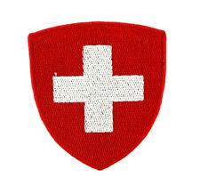 Toppe Toppa PATCH stemma blasone Bandiera svizzera SWISS ricamata