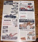 8 Ernest Holmes 850 wrecker Ads & 6 brochures Tow Truck Heavy Wrecker Towing