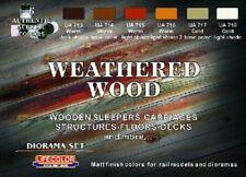 LIFECOLOR Weathered Wood Diorama Acrylic Paint Set 6 22ml Bottles FREE SHIP