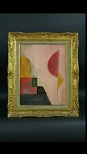 FINE ART PAINTING   ON CARDBOARD , RARE abstractionism  for collectors