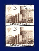 1988 SG1413 £5 Windsor Castle UK4 Pair Good Used  ctnp