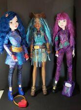 "Lot of 3 Disney Descendants 2 - 28"" Dolls - Uma  - Evie - Mal  COMPLETE"