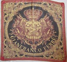 - Superbe  Foulard  GIANFRANCO FERRE 100% soie mousseline TBEG  vintage scarf