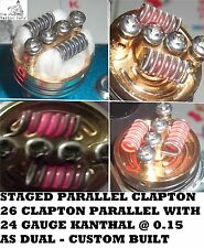 PARALLEL CLAPTON COILS - 6 X COILS  0.15 OHM AS DUAL - FOR RDA/RTA HAND MADE