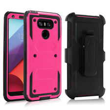 Hybrid Kickstand Belt Clip Case Cover with Screen Protector for LG G6 G7 ThinQ