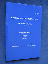 Catalogue of the Collection of Works of ROBERT GRAVES - 100 pages, 1st Edition