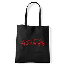 Art T-shirt, Borsa shoulder Pink Floyd The Wall, Nera, Shopper, Mare