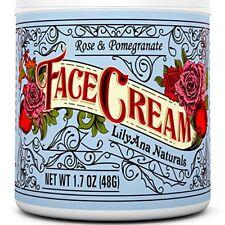 Crema Hidratante Facial Natural Antiedad Arrugas Líneas Rosa Y Granada