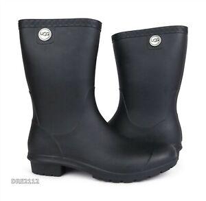 UGG Sienna Matte Black Rain Boots Womens Size 9 *NEW*