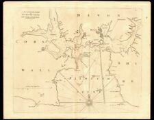 PLYMOUTH SOUND, Cattewater & Hamoaze sea chart by Capt G. COLLINS c1774 map