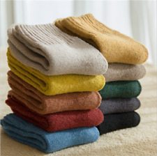 SALE 5 Pack Women Wool Cashmere Casual Solid Warm Basic Thick Terry Socks Winter