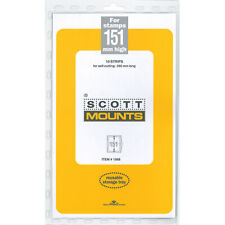 Scott/Prinz Pre-Cut Strips 265mm Long Stamp Mounts 265x151 #1068 Clear