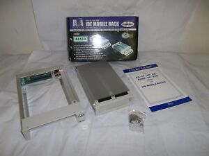 """NOS IDE MOBILE RACK AA ATA 33/66/100 2.5 3.5"""" HARD DRIVE CADDY BAY REMOVABLE"""