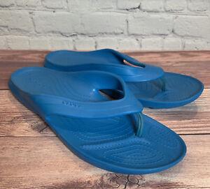 NEW CROCS KADEE II FLIP-FLOPS / SANDALS AQUA BLUE MEN 10/ WOMEN 12 NWOT