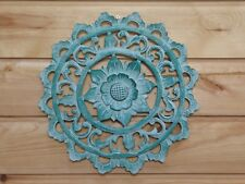 Wooden Painted Shabby Chic Floral Plaque 30cm.....