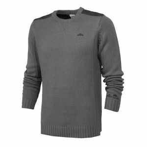 New Mens Ellesse Crew Knitted Sweatshirt Jumper Sweater Knitwear Top - Grey