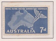 (Q17-67) 1957 AU 7d blue flying doctors MH